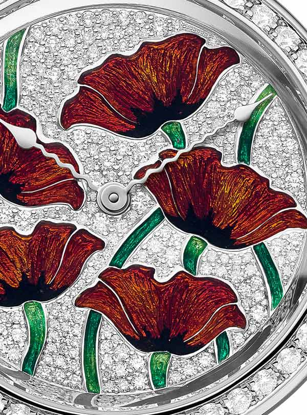"Amadeo® Fleurier39 ""Coquelicots"" Email Grand Feu"