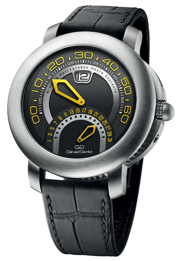 The Gerald Genta 2020 Arena Bi-Retro Anthracite Dial