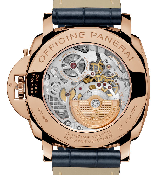 Une Luminor Due pour le 45e anniversaire de Cortina Watch