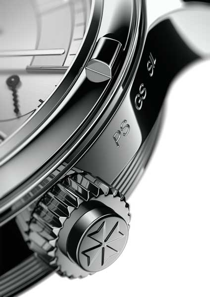 The discreet function selector on the bezel of the Vacheron Constantin Symphonia Grande Sonnerie 1860